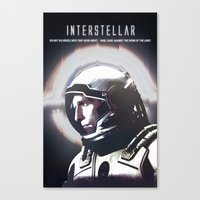 interstellar Canvas Prints featuring interstellar by Saalk