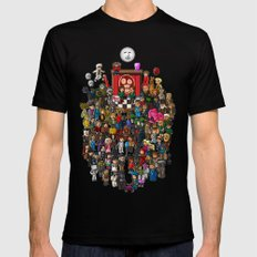 Super Mighty Boosh X-LARGE Black Mens Fitted Tee