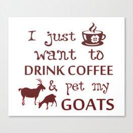 Coffee & Goats Canvas Print