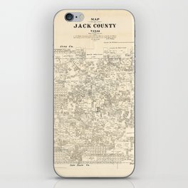 Map of Jack County, Texas (1879) iPhone Skin