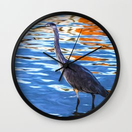 Crane on the River Shannon Wall Clock