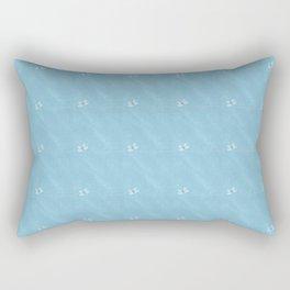 Baby Blue Butterflies Rectangular Pillow