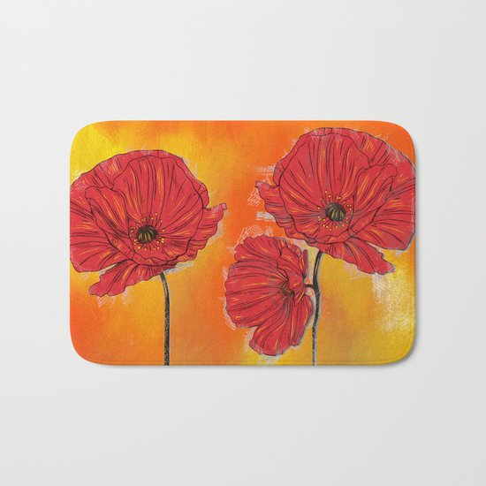 Poppy Variation 7 Bath Mat