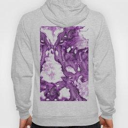 Purple Abstaract Marble acrylic art Hoody
