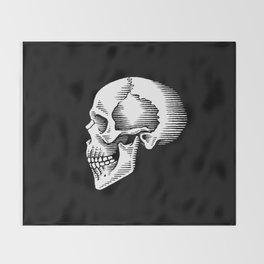 ye olde skull Throw Blanket