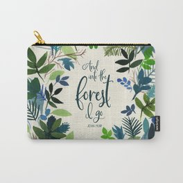 Into the Forest Watercolor Carry-All Pouch
