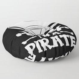 Pirate Skull Corsair Captain Outfit Floor Pillow