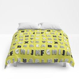 ABC mustard Comforters