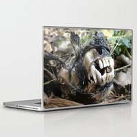 animal skull Laptop & iPad Skins featuring Animal Skull by CJ Thornburg