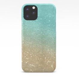 Sparkling Gold Aqua Teal Glitter Glam #1 #shiny #decor #society6 iPhone Case