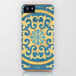 Kazakh national ornament iPhone Case