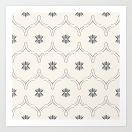 WILDFLOWER JASMIN GREY Art Print
