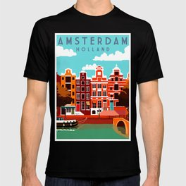 Vintage Amsterdam Holland Travel T-shirt