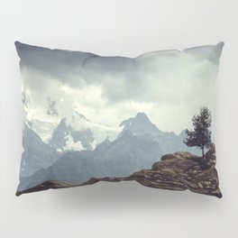 Majestic Mountains and a lone tree Pillow Sham