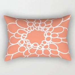 Coral Chrysanth Rectangular Pillow