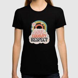 Love Equality an Respect Rainbow Love T-shirt