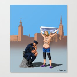 Swedish police Canvas Print