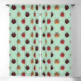 Lady Bug Green Blackout Curtain