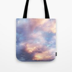 Sunset | Pink Clouds | Sky | Rainbow | Unicorn Colours | Nature Tote Bag