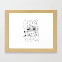 Ahegao Senpai Framed Art Print