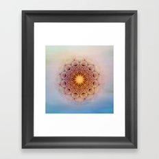 Asterisk Mandala Framed Art Print