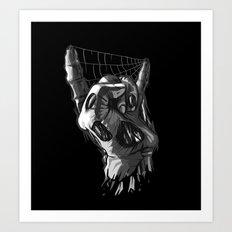 Zombie Horns on Black - No Pick Art Print