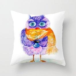 The little owl Cosette Throw Pillow