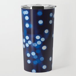 Bokeh Blue Midnight Travel Mug