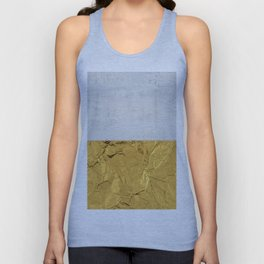 Gold Foil and Concrete Unisex Tank Top
