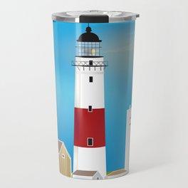 Long Island, New York - Skyline Illustration by Loose Petals Travel Mug