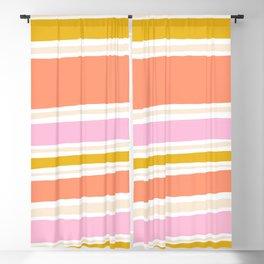 del mar, 70's stripes Blackout Curtain