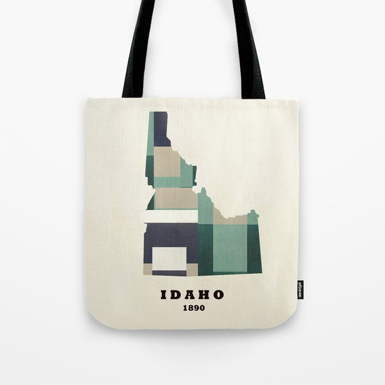idaho state map modern  Tote Bag