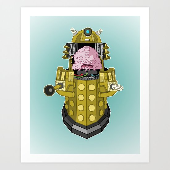 Kralek: Exterminate the Turtles! Art Print