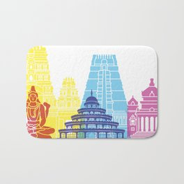 Bangalore skyline pop Bath Mat