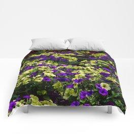 Waves of Petunias Comforters