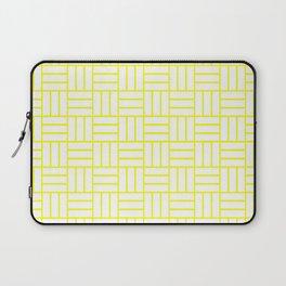 Basketweave (Yellow & White Pattern) Laptop Sleeve