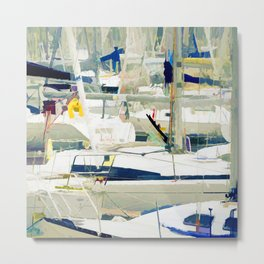 Harbour in the Bretagne Metal Print