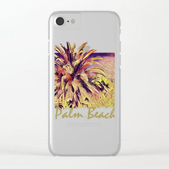 Palm Beach Clear iPhone Case