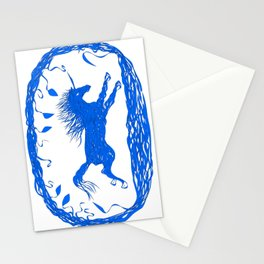 Blue Unicorn 02 Stationery Cards