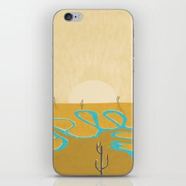 A stream of water in warm yellow desert iPhone Skin