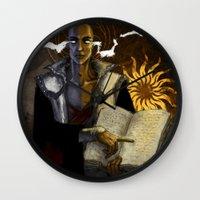 """dragon age Wall Clocks featuring Dragon Age - Truth by Barbara """"Yuhime"""" Wyrowińska"""