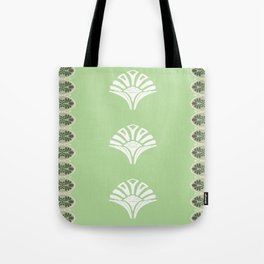 S6 Abbey Chic Classique Pattern (green) Tote Bag