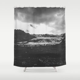 Ice giant - black and white landscape photography Shower Curtain