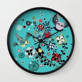 owl and lark Wall Clock