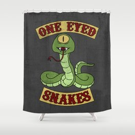 One Eyed Snakes Shower Curtain