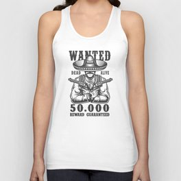 Wanted Dead or Alive Unisex Tank Top