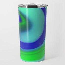 Green blue abstract pattern Travel Mug