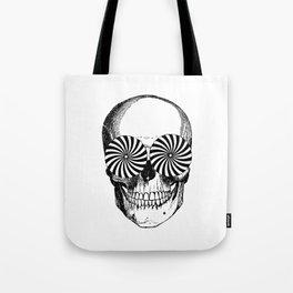 Black & White - Optical Skull Tote Bag
