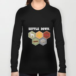 Humorous Development Board Game Tee Shirt Gift Cool Settle Down Settlements Unique Games Men Women Long Sleeve T-shirt