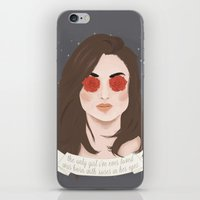 allison argent iPhone & iPod Skins featuring Allison Argent by gentlederek